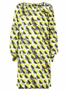 Odeeh colour-block shift dress - Yellow
