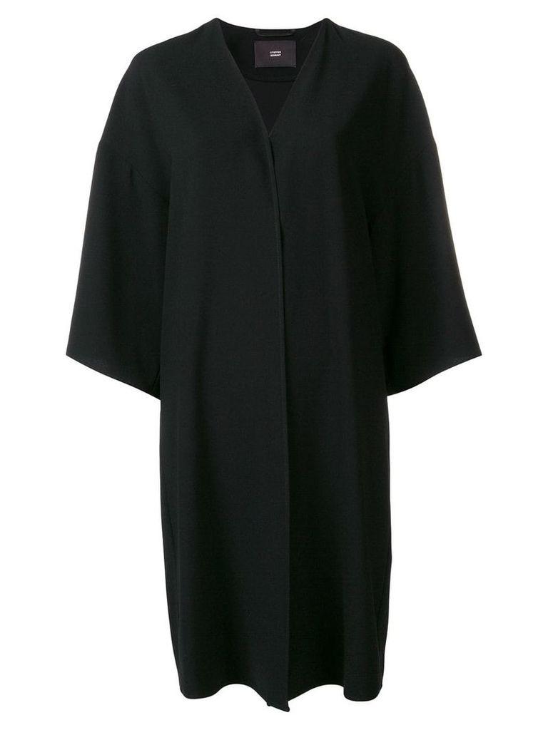 Steffen Schraut single-breasted coat - Black