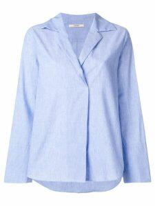 Odeeh long-sleeve flared shirt - Blue