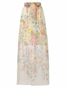 Gucci floral print sheer skirt - Neutrals