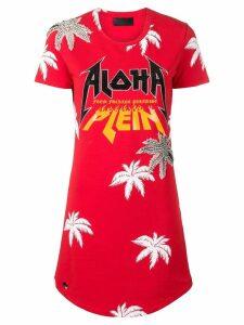 Philipp Plein Aloha T-shirt dress - Red