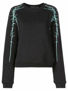Haider Ackermann barbed wire print sweatshirt - Black