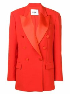 MSGM classic double-breasted blazer - Red