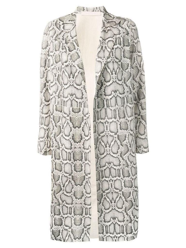 Salvatore Santoro snake-print coat - Neutrals