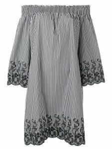 Steffen Schraut off-shoulder striped dress - Black