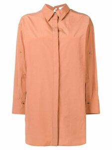 Dorothee Schumacher oversized long-sleeve shirt - Orange