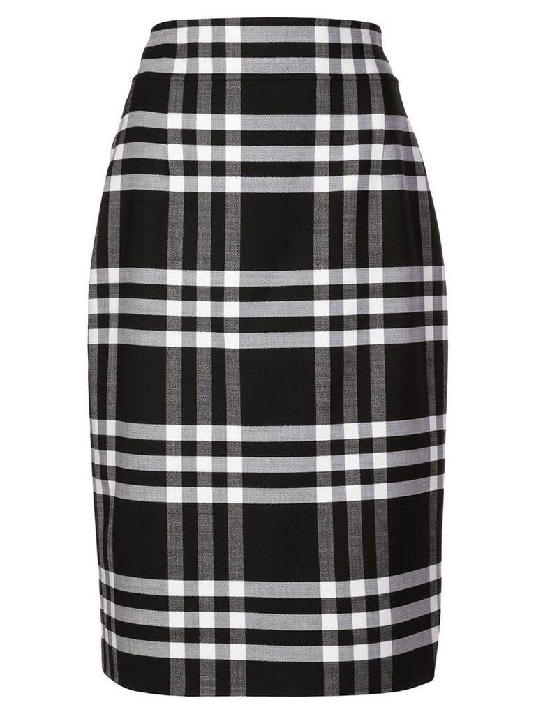 Oscar de la Renta plaid fitted skirt - Blue