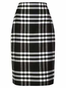 Oscar de la Renta plaid fitted skirt - Blue