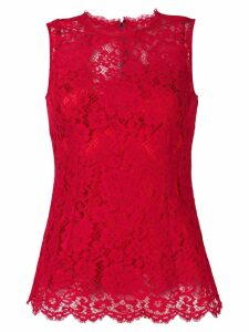 Dolce & Gabbana sleeveless floral lace top - Red