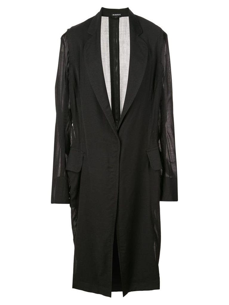Ann Demeulemeester oversized sleeve coat - Black