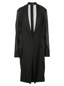 Ann Demeulemeester oversized sleeve coat - Black