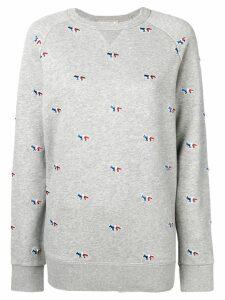 Maison Kitsuné tricolour fox embroidered sweatshirt - Grey
