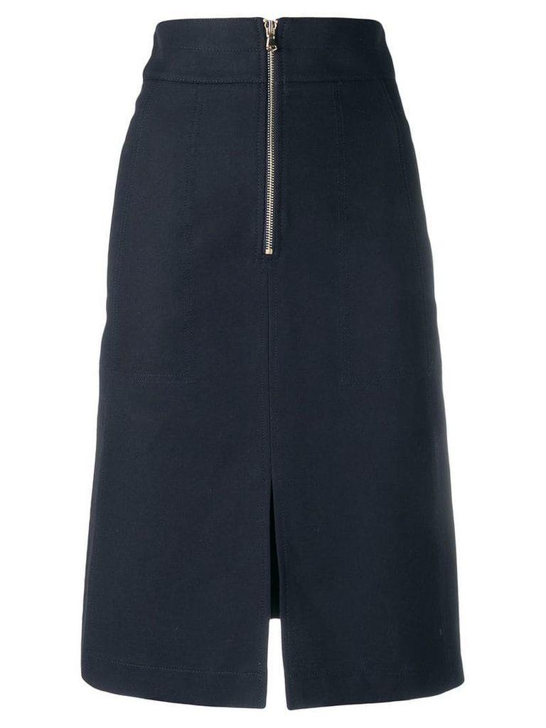 Twin-Set high-waisted midi skirt - Blue