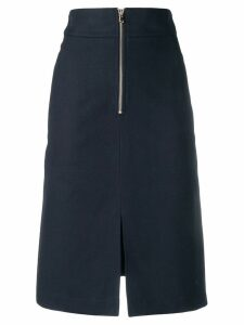 Twin-Set high-waisted midi skirt - Blue
