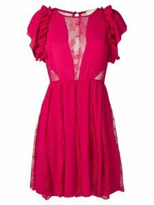 Aniye By sheer lace panel dress - Pink