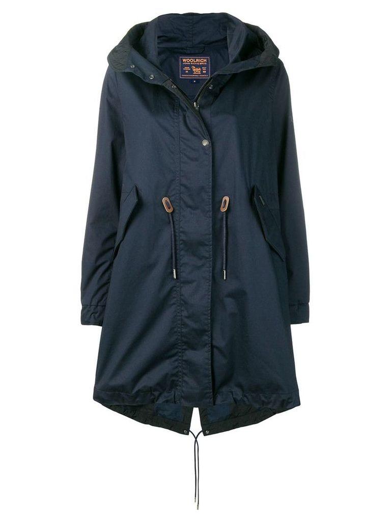 Woolrich oversized hooded coat - Blue