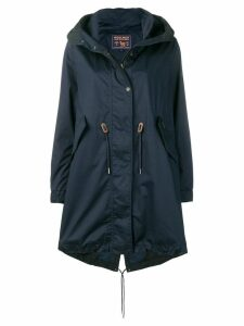 Woolrich oversized hooded coat - Blue