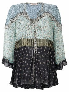 Dorothee Schumacher contrast embroidered blouse - Blue