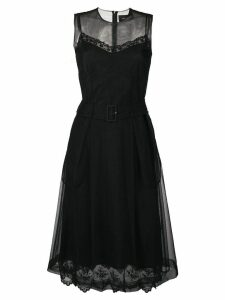 Simone Rocha belted waist tulle dress - Black