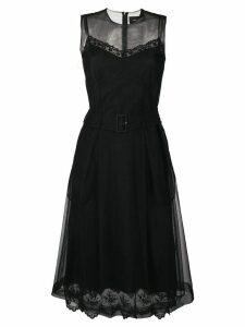 Simone Rocha belted waist tulle dress - Black