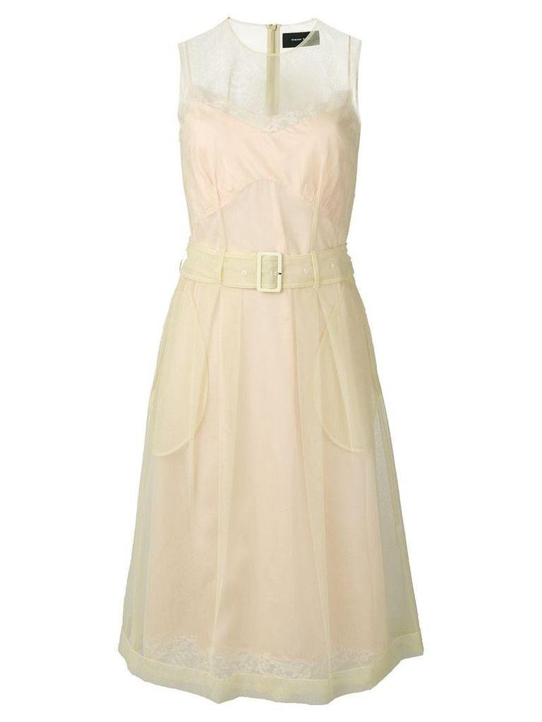 Simone Rocha belted waist dress - Green