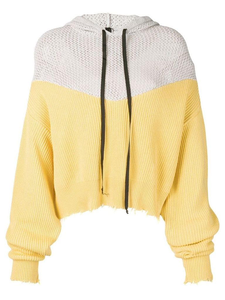 Unravel Project hooded jumper - Yellow