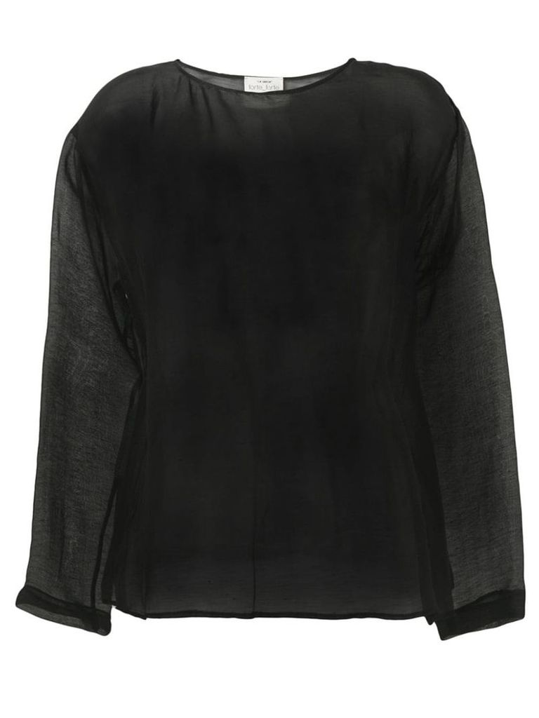Forte Forte sheer top - Black