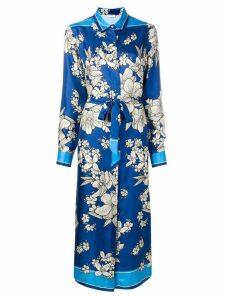 P.A.R.O.S.H. floral print shirt dress - Blue