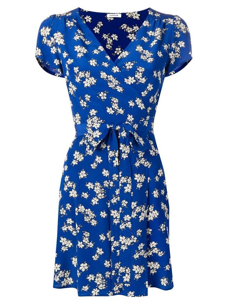 P.A.R.O.S.H. floral print mini dress - Blue