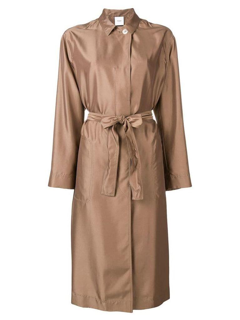Agnona tie waist coat - Brown