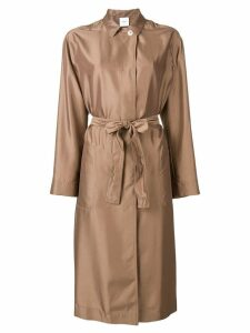 Agnona tie waist coat - Brown
