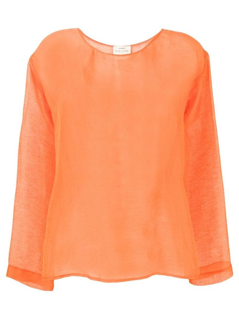 Forte Forte sheer top - Orange