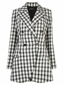 Derek Lam Double Breasted Plaid Blazer - Black
