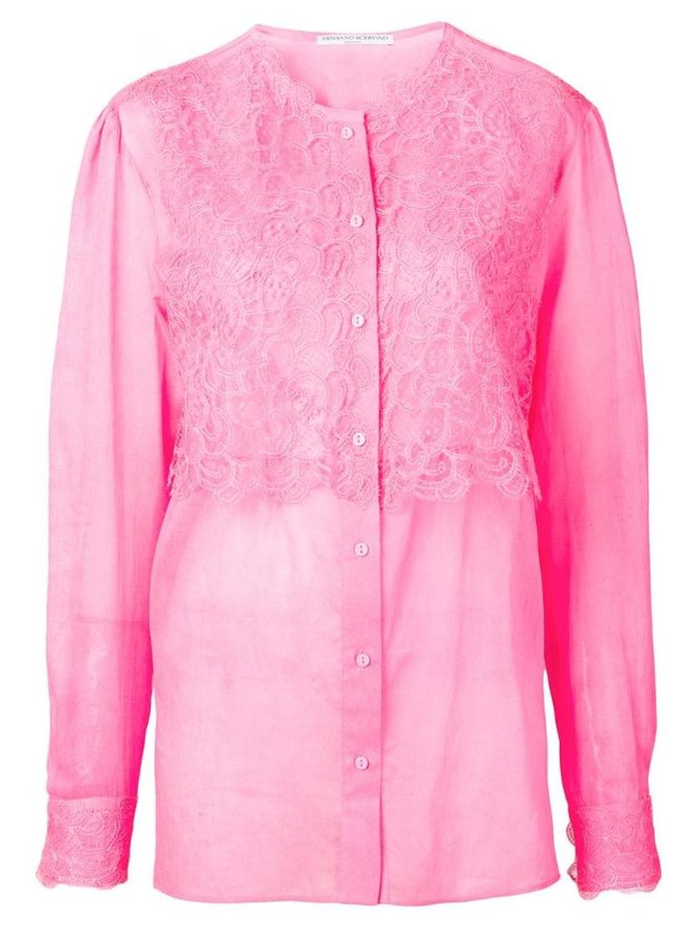 Ermanno Scervino lace panel blouse - Pink