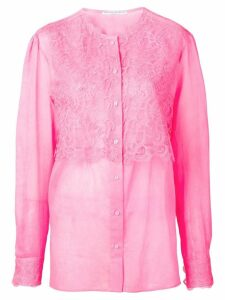 Ermanno Scervino lace panel blouse - Pink