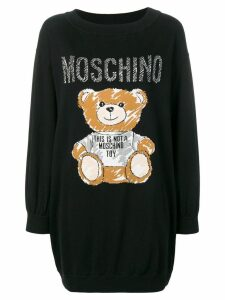Moschino Sketch Bear sweater dress - Black
