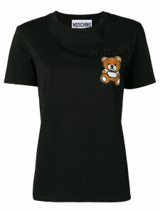 Moschino Bear embroidered T-shirt - Black