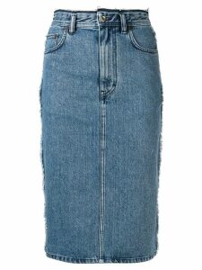 Acne Studios denim pencil skirt - Blue