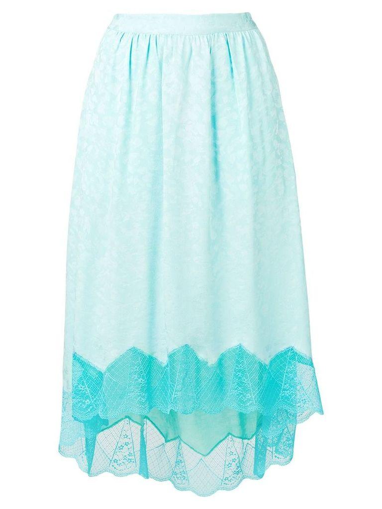 Zadig & Voltaire lace hem asymmetric skirt - Blue