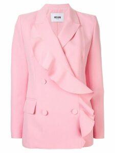 MSGM ruffle blazer - Pink