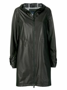 Herno hooded zip-up coat - Brown