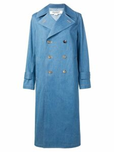 Junya Watanabe double breasted coat - Blue