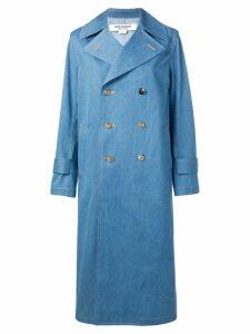Junya Watanabe double breasted coat - Blue