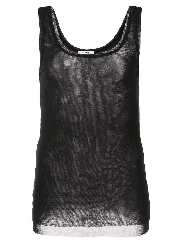 Fuzzi slim-fit tank top - Black