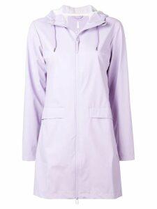 Rains hooded raincoat - Purple