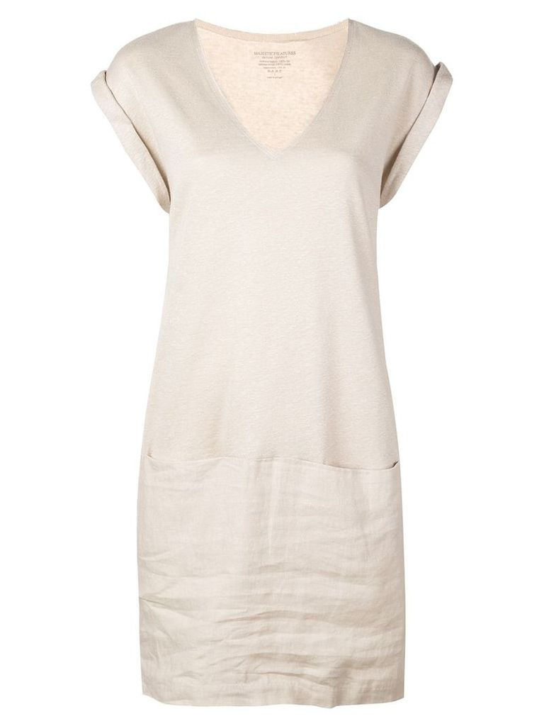 Majestic Filatures jersey dress - Neutrals