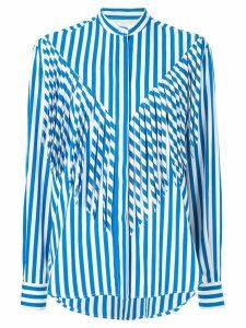 MSGM fringe striped shirt - White