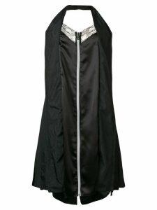 Maison Margiela zip front halter slip dress - Black
