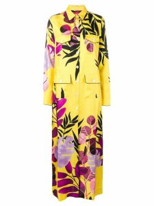 F.R.S For Restless Sleepers botanical shirt dress - Yellow