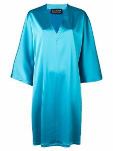 Gianluca Capannolo satin v-neck dress - Blue